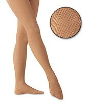 Showstoppers Company Girls : Caramel fishnet tights Capezio 3000 for adult sizes Capezio #3407C for child sizes Required for Showstoppers Company (Aurora Rhinestones to be applied later)