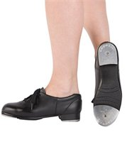 Levels, 3,4,5 Tap Classes Girls & Boys : Black Flat, Lace-up Oxford Capezio CG09 Recommended for all students Required for Showstoppers Company